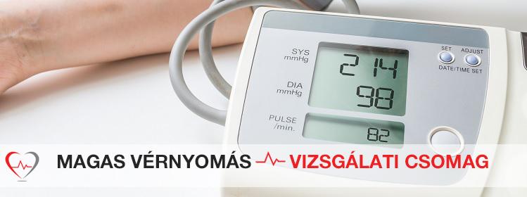 magas vérnyomás vizsgálati standardjai