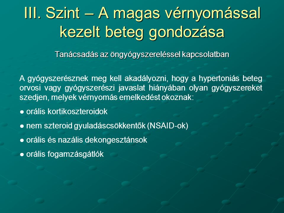 NSAID-ok magas vérnyomás esetén
