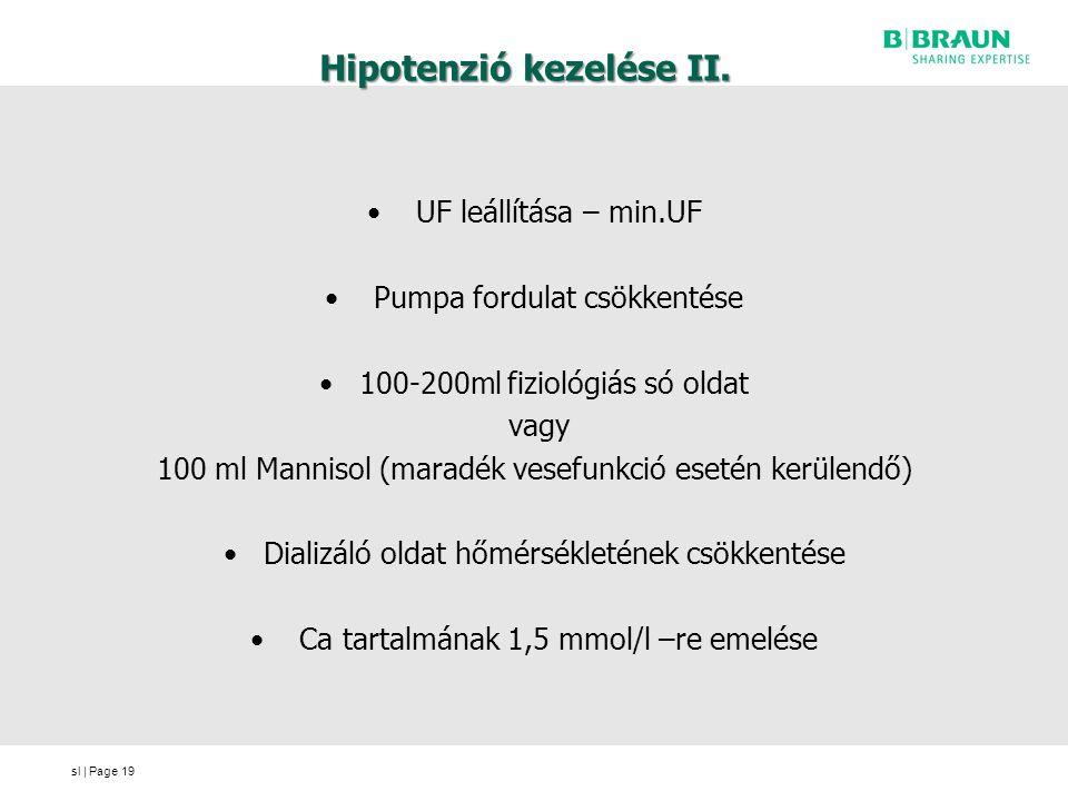 hipertóniáról hipotenzióra váltás