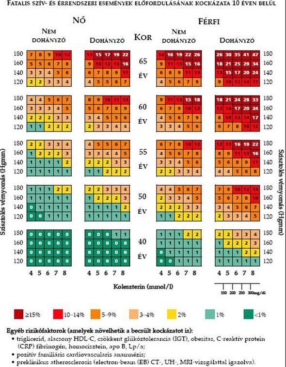 a magas vérnyomás kialakulásának kockázata férfiaknál