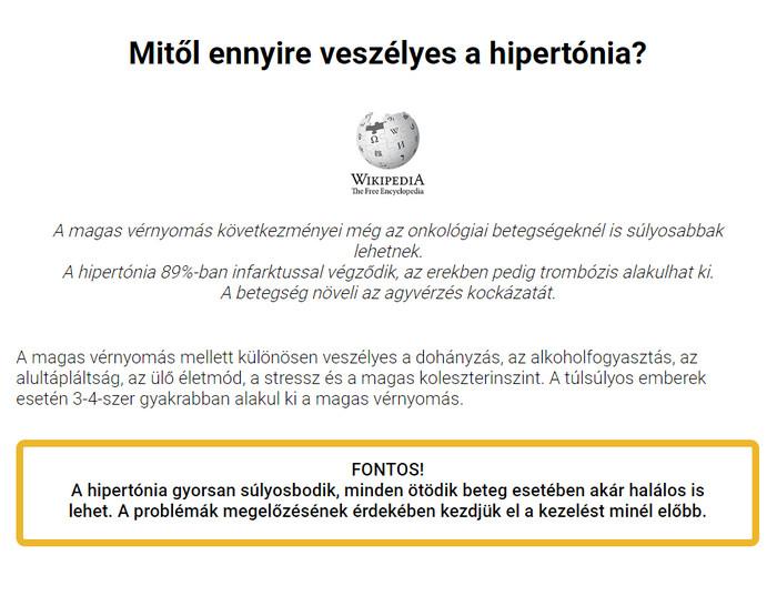 hipertónia fórum Cavinton a magas vérnyomás kezelésében