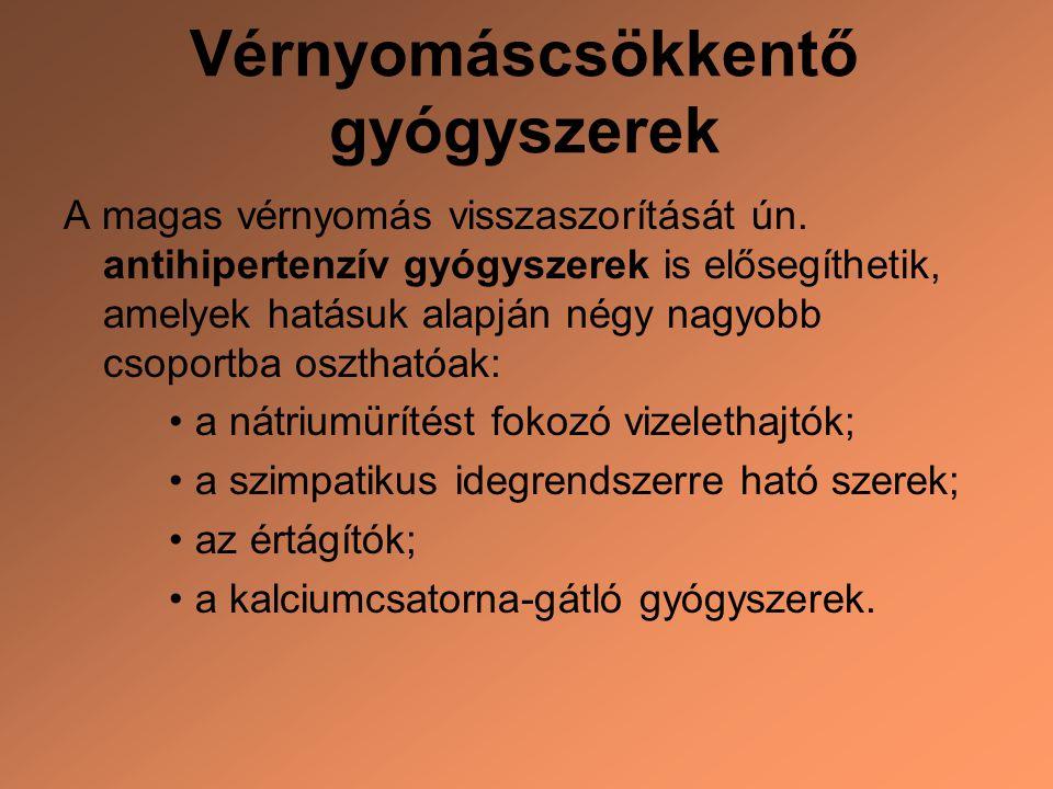 kalciumcsatorna-gátlók magas vérnyomás esetén)