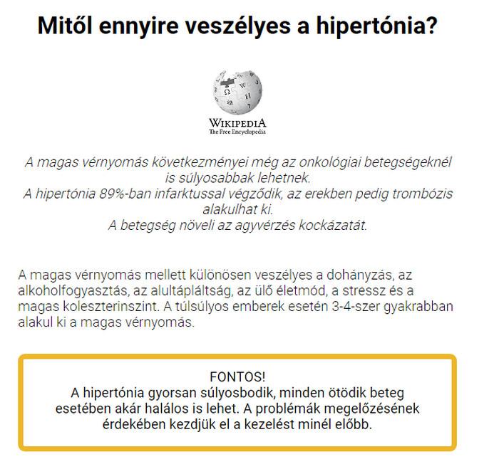 hipertónia vélemények az emberekről)