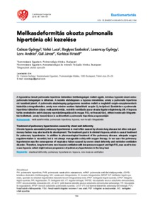 pulmonalis hipertónia kezelése