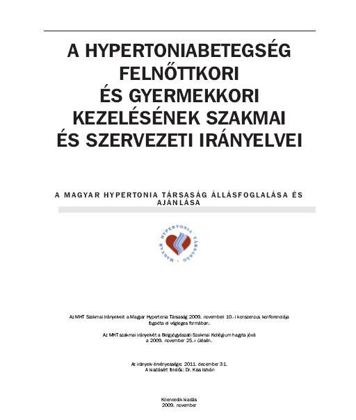 törzskönyvi hipertónia