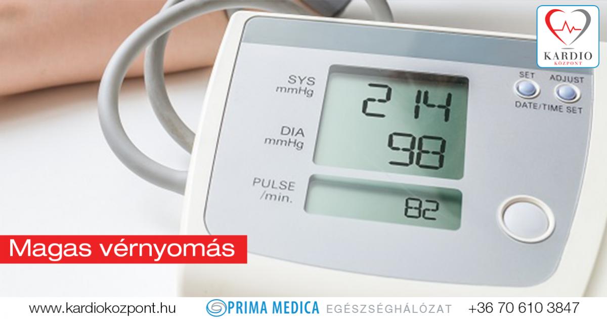 elsődleges magas vérnyomás kezelés