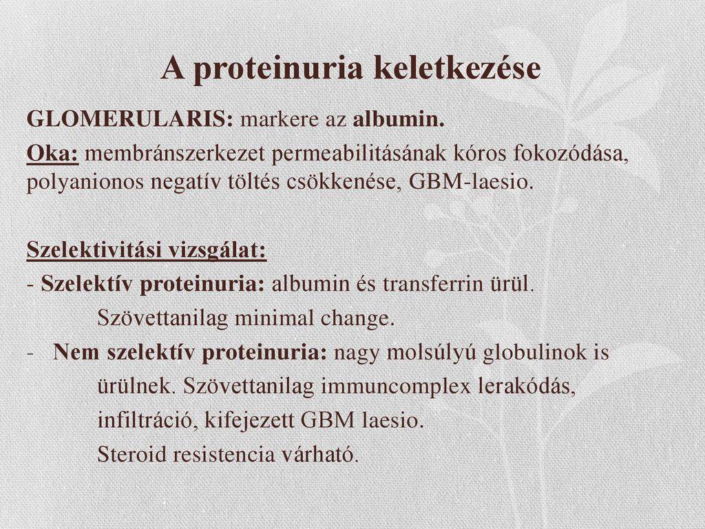 proteinuria hipertóniával
